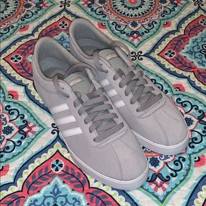 New Size 9.5 Gray Women's Adidas neo Courtset W